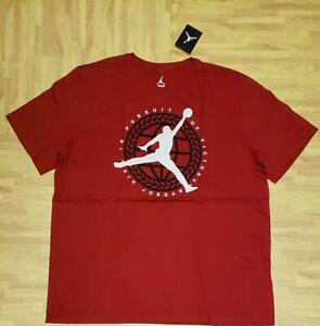 Air Jordan In Pursuit Of Victory Tee T-Shirts  801068-687 Gym Red NEW Size 2XL