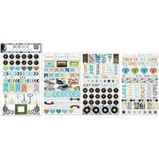Bo Bunny LIFE IN COLOR Clear Stickers - scrapbooking - cardmaking