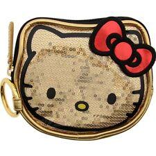 Hello Kitty Gold Sequin Face Coin Bag