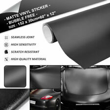 Matte Black Air Release Car Vinyl Film Sticker Decal Wrap Roll 5ft x 1ft
