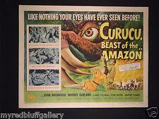 Curucu Beast of the Amazon Universal Pictures 1956 Half Sheet #3