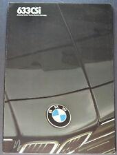 1984-1985 BMW 633CSi Sales Brochure Folder Excellent Original