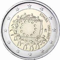 Spanien 2 Euro 2015 Europaflagge Sondermünze bankfrisch