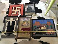 Lot of 5 - Beautiful, Navajo, Pictorial Weavings, Rugs, Runners, Historic, Rare.