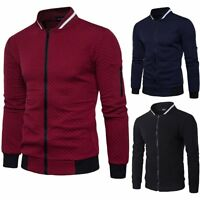 Men's Plain Zip Up Hoodie Hooded Coat Hoody Jacket Sweater Sweatshirt Jumper Top