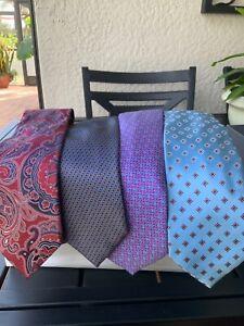 Brand new lot of 4 ERMENEGILDO ZEGNA men's ties
