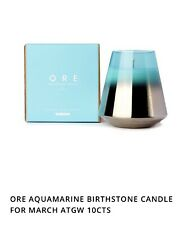 More details for ore sea salt rose aquamarine march birthstone candle, prefect gift