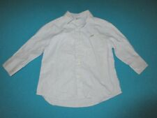 CREWCUTS Boys Blue White Striped Long Sleeve Shirt Size 2 XS