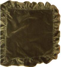 Ralph Lauren Edwards Velvet Olive Green Ruffled Decorative Pillow Cover EUC