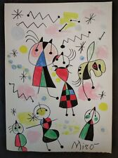 JOAN MIRÒ       DRAWING SIGNED  WATERCOLOR ON VINTAGE PAPER .