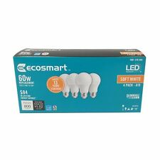 Ecosmart 60W Equivalent Soft White A19 Energy Star and Dimmable LED Light Bulb