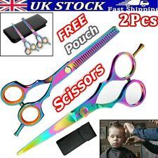 "BARBER SCISSORS HAIR HAIRDRESSING PROFESSIONAL CUTTING SALON 5.5"" SCISSOR SET UK"