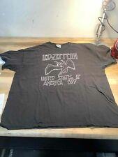 Men's 2003 Re-Print Led Zeppelin 77' Tour Shirt Size 2Xl