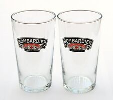 2 x BOMBARDIER ENGLISH PREMIUM BITTER PINT BEER GLASSES HIGHBALL - 2 LOTS AVAIL.