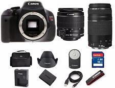 Canon T3i / 600D 18.0 MP SLR Camera With 18-55mm Lens Kit  (2 LENSES)