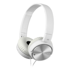 Sony MDR-ZX110NAW Noise Cancelling, Smartphone-Capable Headphones White