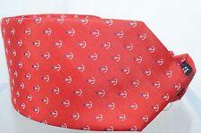 Salvatore Ferragamo Anchor Men's Tie Red 100 Silk Neckwear Accessories