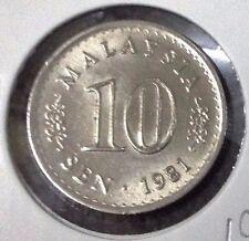 "MALAYSIA  10 sen coin Parliament series 1981 ""UNC""  #1"