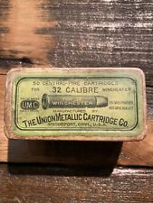 Rare Umc 1873 Ammo Box 2pc! 32-20 1880's Empty With Gift 32 Wcf Colt Marlin