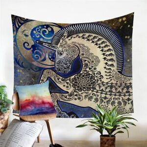 Mandala Unicorn Universe Wall Tapestry Hanging Throw Cover Home Room Decoration