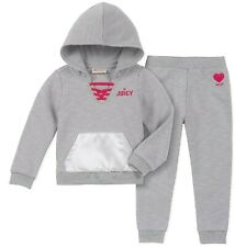 JUICY COUTURE girl grey heather terry TRACKSUIT 3Y magenta branding BNWT