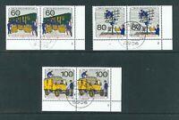 Berlin Mi-Nr. 876-878 Ecke 4 FN als Paar - zentrisch Vollstempel - Ortsstempel