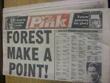 01/09/1990 COVENTRY evening Telegraph il rosa: principali titolo recita: FORESTA fare