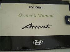Hyundai Accent (2000-2003) Manual Del Propietario's