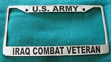 License Plate Frame, U.S. ARMY/IRAQ COMBAT VETERAN-#8651BK