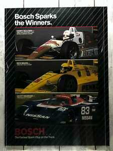Vintage 1988 Bosch Sparks The Winners IMSA GT INDY 500 CART/PPG INDY Car Champs