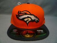 New Era 59fifty Denver Broncos Game On Field BRAND NEW Fitted cap hat 2-Tone NFL