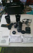 Nikon D D3200 24.2MP Digital SLR Camera - Blk (Kit  two lenses included plus bag