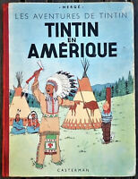 TINTIN - TINTIN EN AMERIQUE - 1947 - B1 - TBE - Version Originale Seulm 17000 Ex