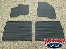 11 thru 14 Explorer OEM Genuine Ford Black Rubber All Weather Floor Mat Set 4-pc