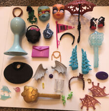 Monster High Accessories lot Shoes, Hair Brush, stand parts, purses!(34 PIECES)