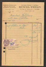 """NANTES (44) BOIS CHARBONS de CHAUFFAGE """"I. SUTEAU / RINCEL & THEON Succ"""" en 1931"""