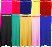 A19 New Women Ladies Belted Maxi Skirt in Plus Size.