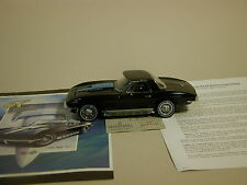 CORVETTE 1967 CHEVROLET BLACK CORVETTE STING RAY L88 FRANKLIN MINT 1:24 DIECAST