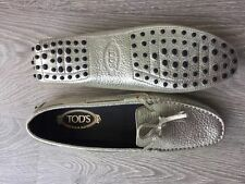 Tod's Patternless 100% Leather Casual Flats for Women