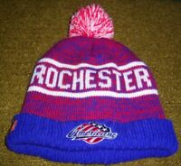 AUTHENTIC Stitched ROCHESTER AMERICANS/Amerks AHL Knit WINTER HAT toque jersey l