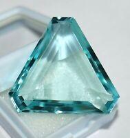 43.20 Ct Aquamarine Gemstone Loose Aquamarine Trillion Shape Best Offer