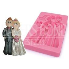 Bride & Groom Wedding Dress Suit Silicone Mould Fondant Chocolate Cake Baking