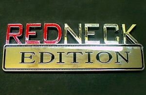 Plymouth REDNECK Chrome Decal Logo Emblem Badge Plaque Hood Door Bumper Exterior