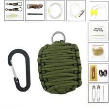 Kit 11 in 1  SOPRAVVIVENZA emergenza campeggio caccia coltello paracord fuoco