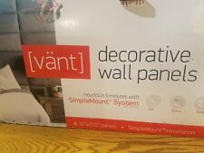 VANT Upholstered Headboards Accent Wall Panels Packs Of 4 Leather Dusty Taupe