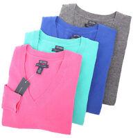 Tommy Hilfiger Women's Long Sleeve Cashmere V-Neck Sweater - $0 Free Ship