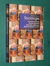 Dictionnaire de sociologie BOUDON BESNARD CHERKAOUI LÉCUYER