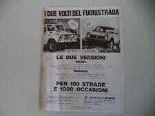 advertising Pubblicità 1983 UAZ 469 B/LADA NIVA