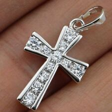 Hot Great Nice Cross White CZ Stone Jewelry Gold Filled Women Gift Pendants P205
