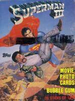 Superman 3 Movie Card Box 1983 Topps Rare